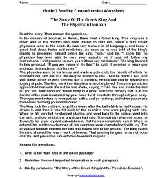 20 Best Reading Comprehension Worksheets Printable 7th Grade images on Best  Worksheets Collection [ 2200 x 1700 Pixel ]