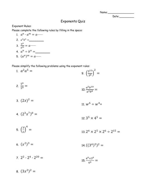 small resolution of 12 Best Power Of 10 Exponents Worksheets images on Best Worksheets  Collection