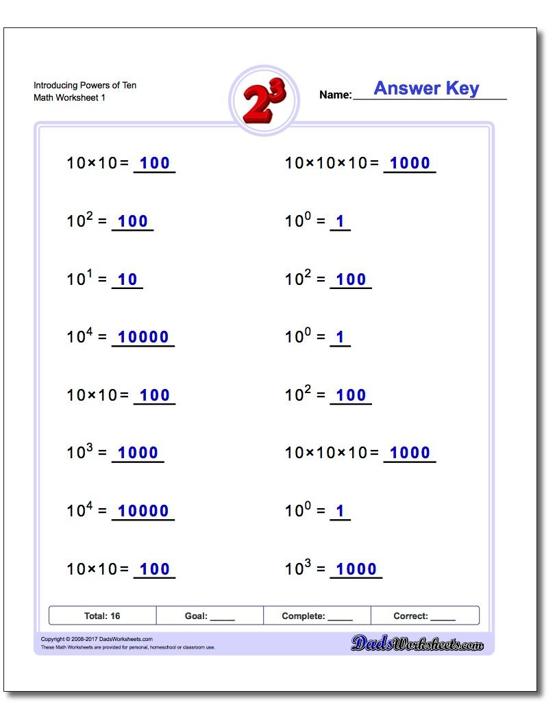 medium resolution of 12 Best Power Of 10 Exponents Worksheets images on Best Worksheets  Collection