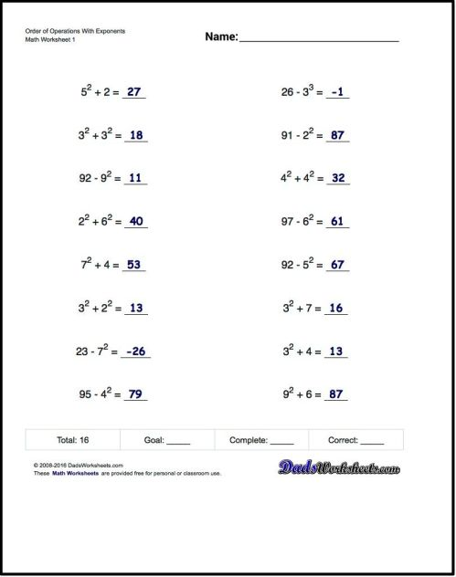 small resolution of 8 Best Pemdas Worksheets images on Best Worksheets Collection