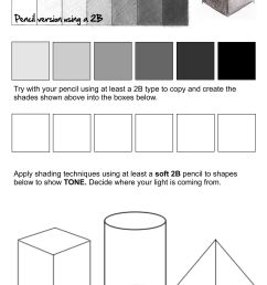 5 Best Pencil Shading Techniques Worksheets images on Best Worksheets  Collection [ 3508 x 2481 Pixel ]
