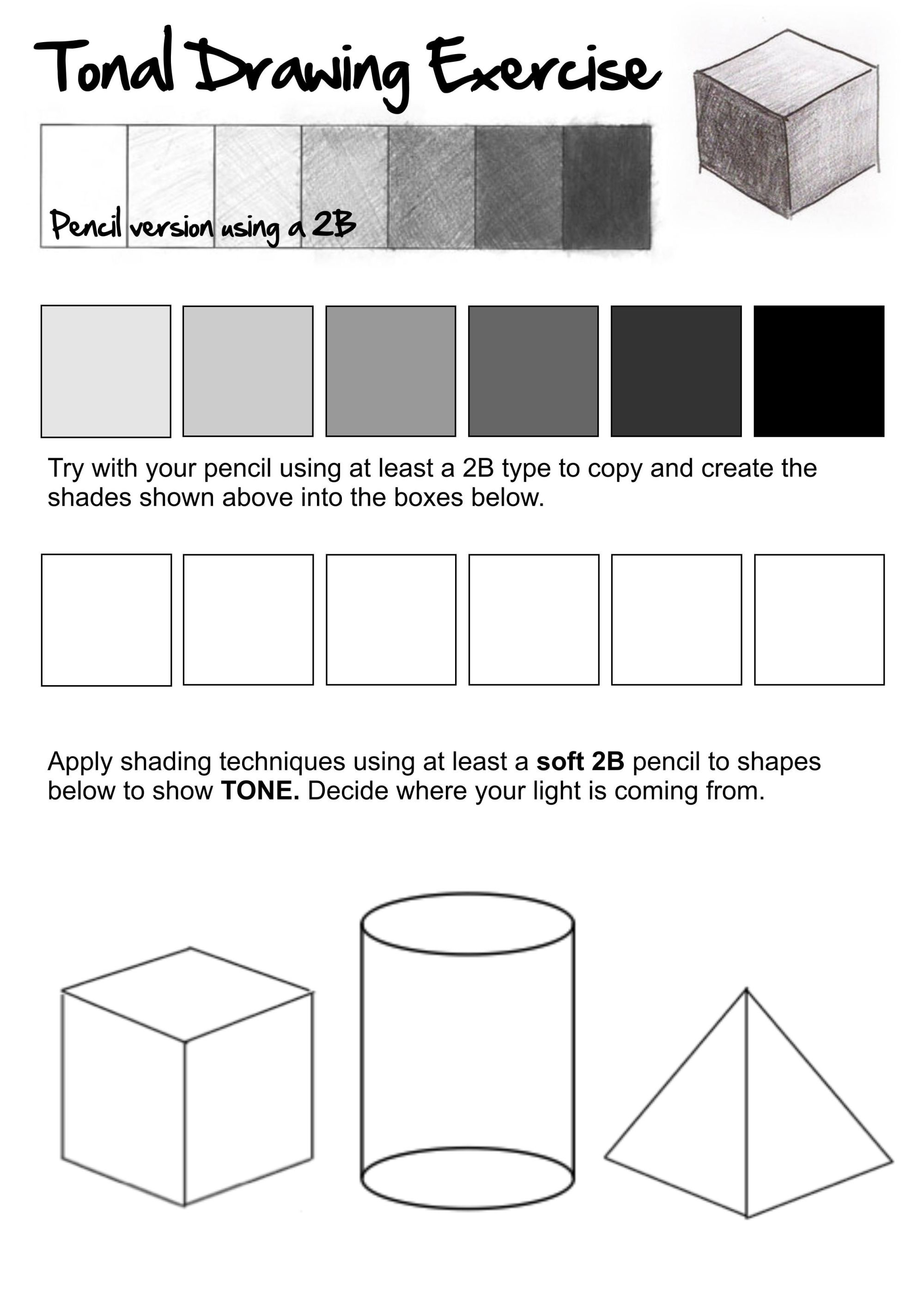 hight resolution of 5 Best Pencil Shading Techniques Worksheets images on Best Worksheets  Collection