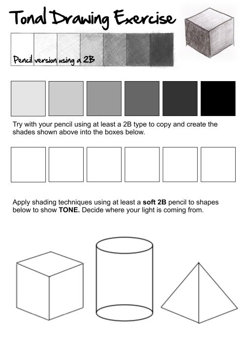 small resolution of 5 Best Pencil Shading Techniques Worksheets images on Best Worksheets  Collection