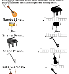 13 Best Musical Instruments Worksheets images on Best Worksheets Collection [ 3510 x 2479 Pixel ]