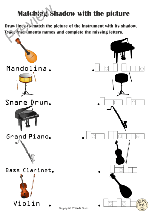 small resolution of 13 Best Musical Instruments Worksheets images on Best Worksheets Collection