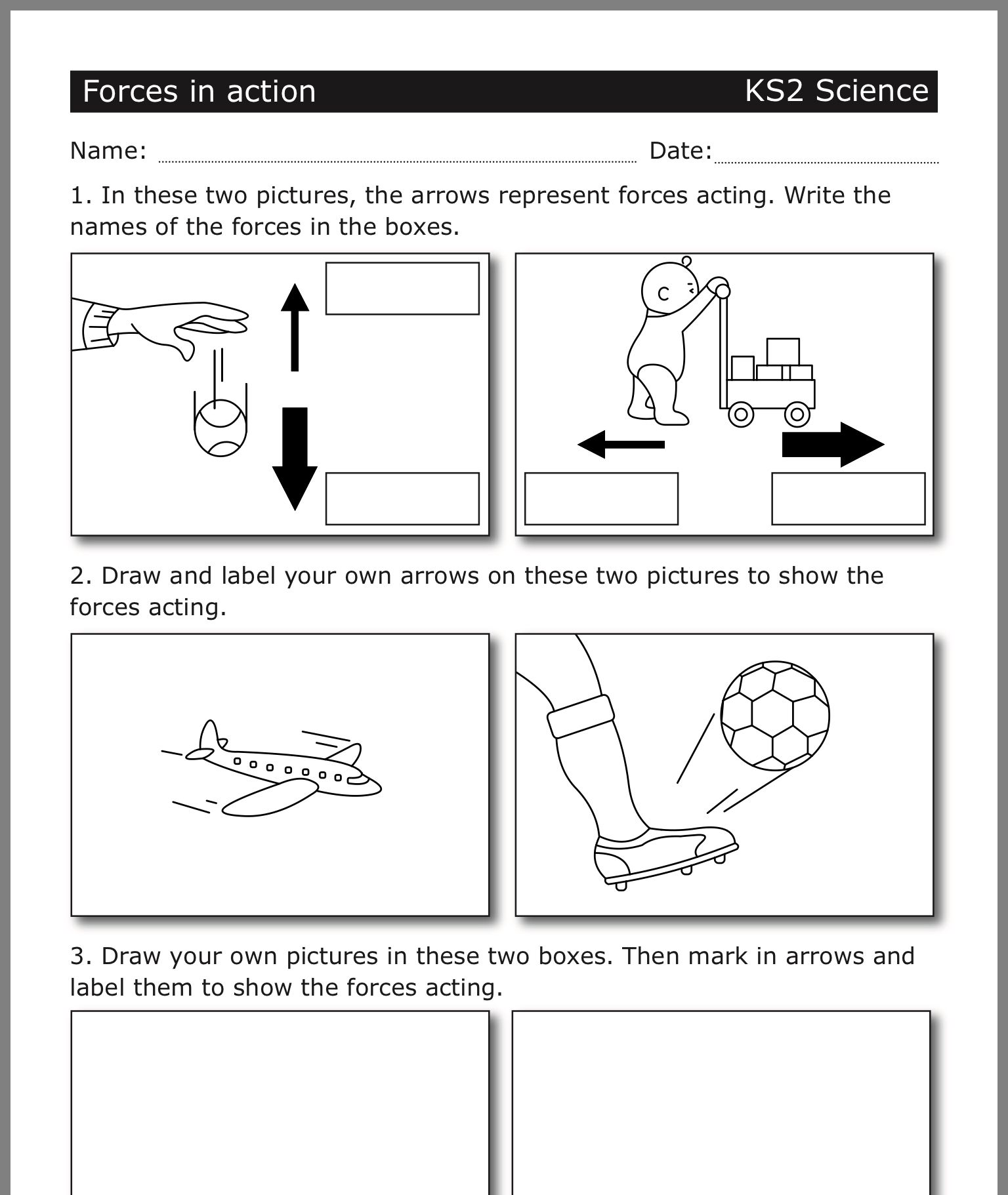 hight resolution of Forces Worksheet 4th Grade   Printable Worksheets and Activities for  Teachers