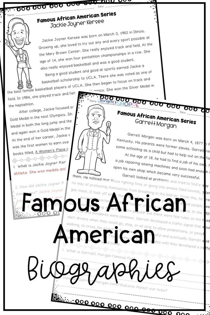 hight resolution of Black History Famous African Americans Nonfiction Reading Worksheets on  Best Worksheets Collection 1533