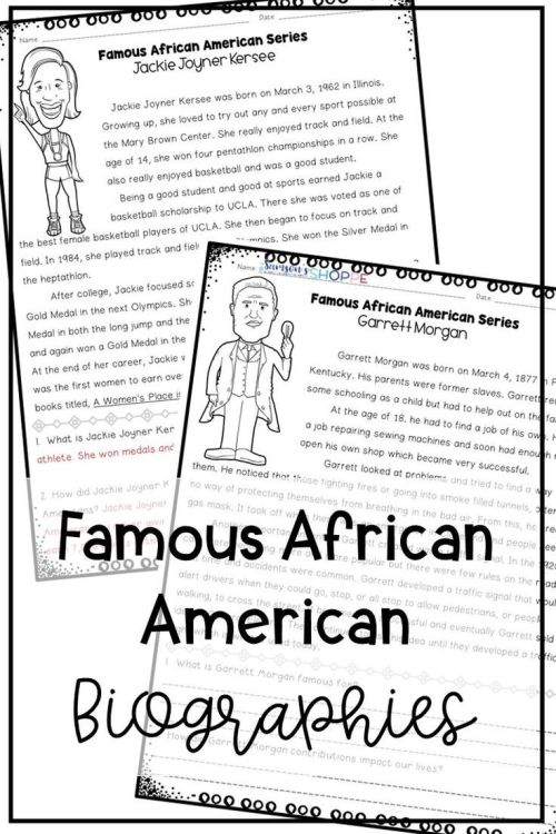 small resolution of Black History Famous African Americans Nonfiction Reading Worksheets on  Best Worksheets Collection 1533
