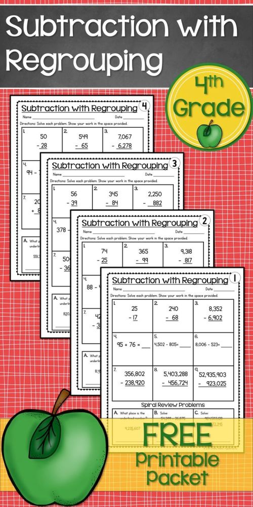 small resolution of 17 Best Subtraction Worksheets 4th Grade images on Best Worksheets  Collection