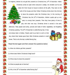 15 Best Christmas Reading Worksheets images on Best Worksheets Collection [ 1440 x 1018 Pixel ]