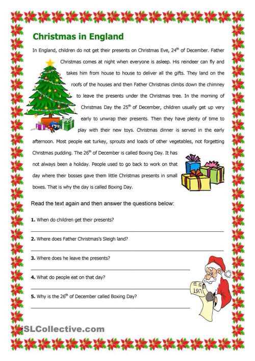 small resolution of 15 Best Christmas Reading Worksheets images on Best Worksheets Collection
