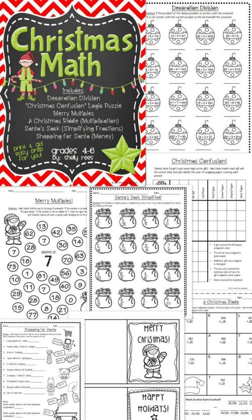 small resolution of 21 Best Christmas Math Worksheets 4th Grade images on Best Worksheets  Collection