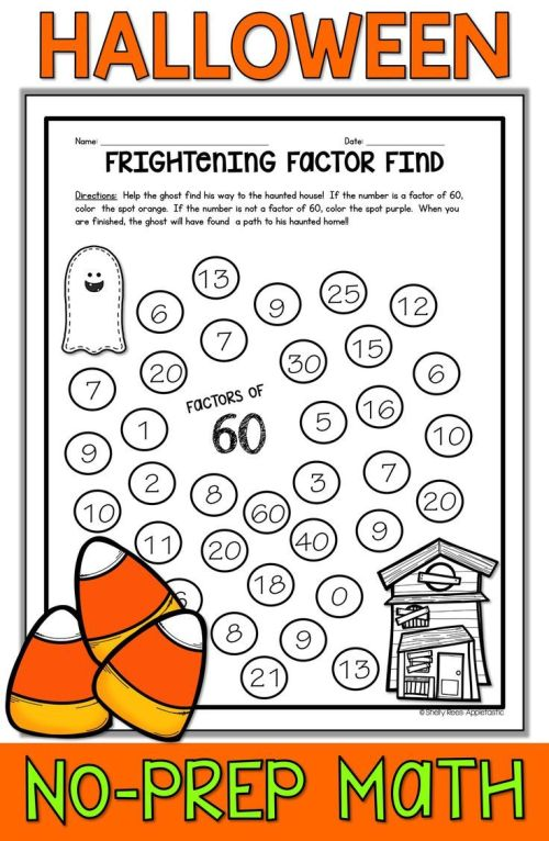 small resolution of Halloween Math Worksheets   Tpt Fun Math Resources   Halloween Math on Best  Worksheets Collection 616