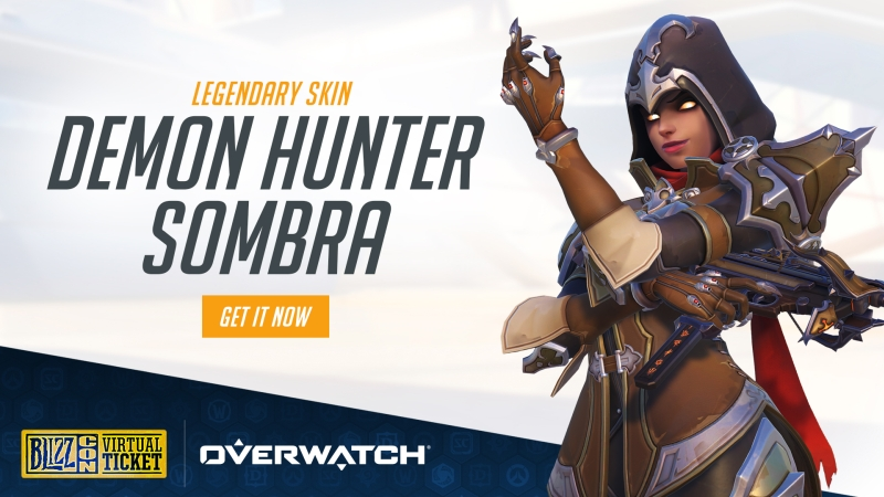 BlizzCon 2018 Virtual Ticket Demon Hunter Sombra Legendary Skin