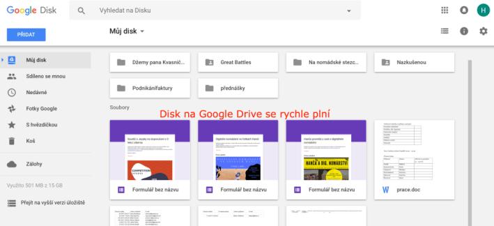 Online nástroje - Google Drive