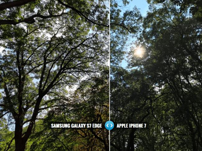 Samsung Galaxy S7 Edge Apple iPhone 7 karşı: Kamera ne kadar iyidir?