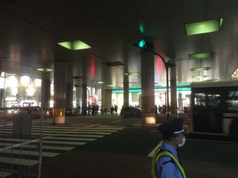 渋谷マークシティ前の横断歩道