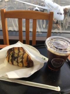 成田空港のカフェ