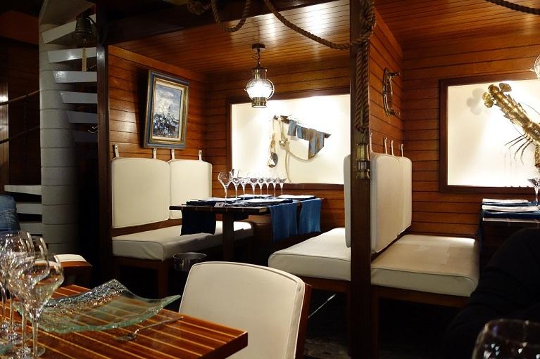 intérieur du restaurant le lénigo en loire atlantique