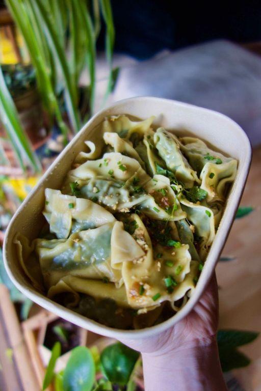 raviolis chinois épinard et tofu fumé