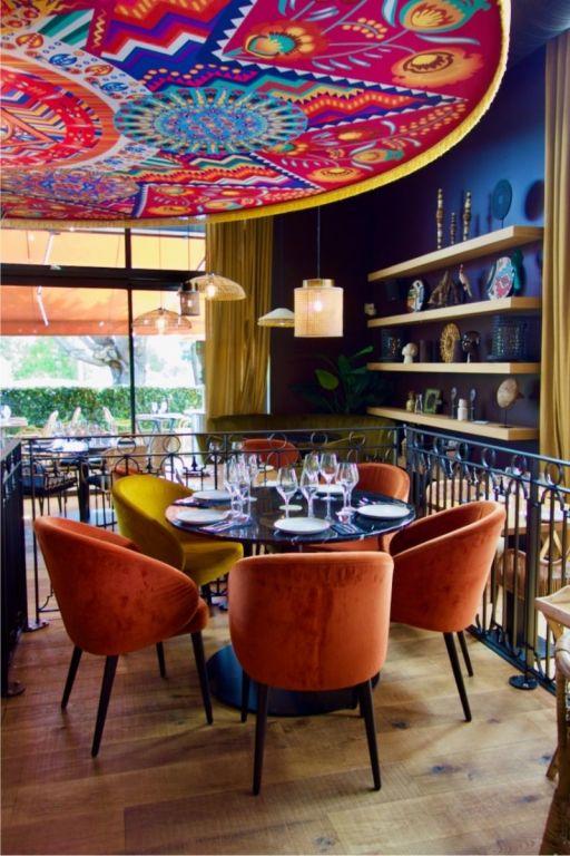 table de cinq chez bahia tikka à pornichet