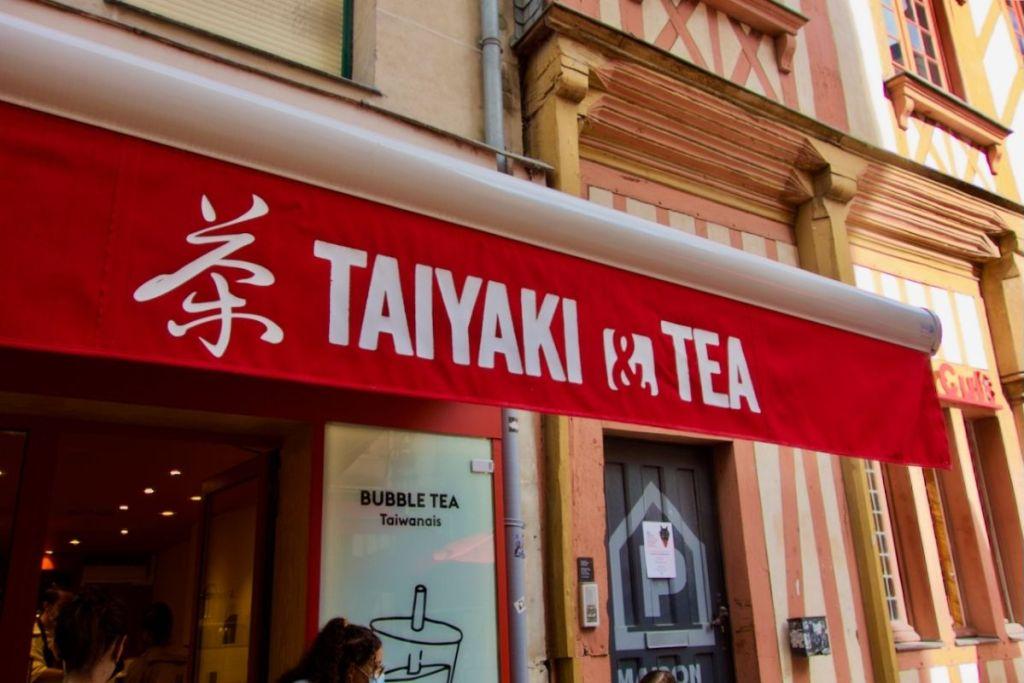 devanture de taiyaki and tea à nantes