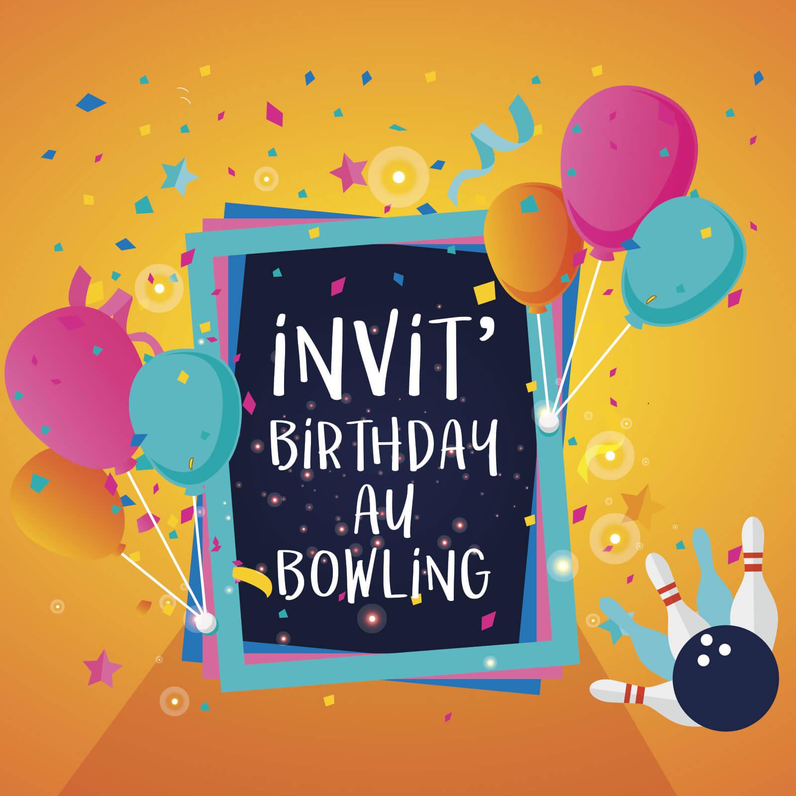 anniversaire au bowling bowlcenter