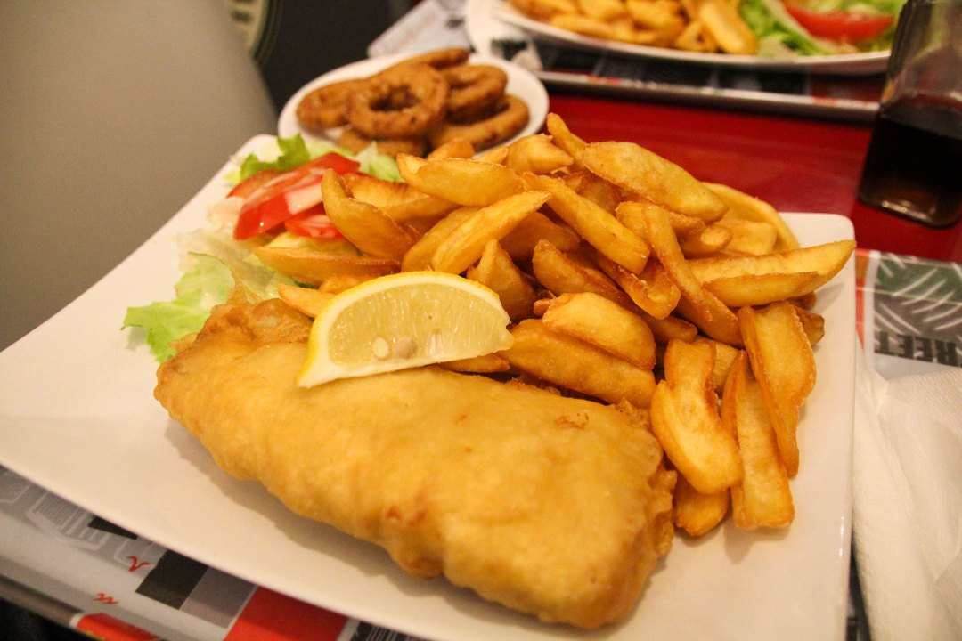 Martin's Fish and Chips Plate