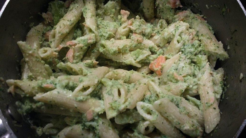 Brocolli and Salmon Pasta
