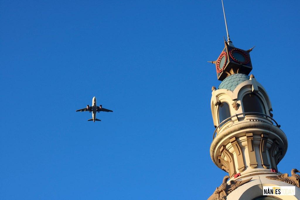 Plane Flying Over La Tour Lu