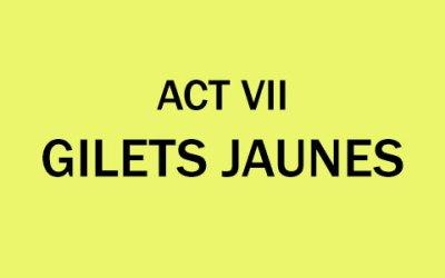 Gilets Jaunes ACT VII Saturday 29th December