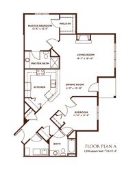 2 Bedroom Layout Plan