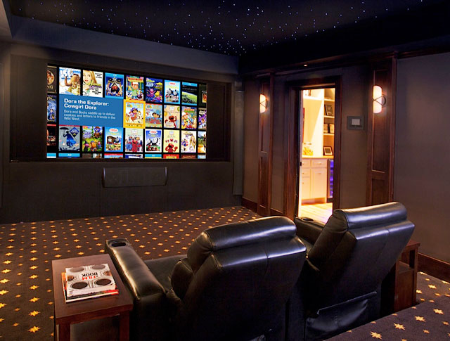Rustic Home Theater Room Design Ideas  Home Decor Ideas