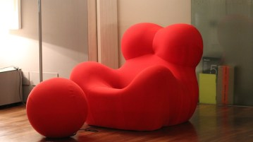 be happy red couch