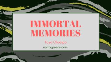 Immortal Memories Tayo Oladipo