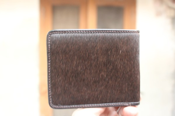 Cow Hair Leather Wallet