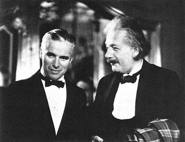 Чарли Чаплин и Альберт Энштейн
