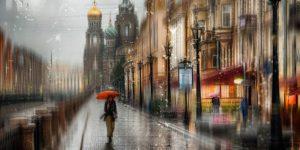 Питер под дождем - романтические фотографии