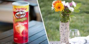 10 замечательных вещей, которые легко смастерить из цилиндрической упаковки из-под чипсов
