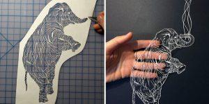 Ажурные композиции, вырезанные из бумаги