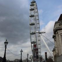 London Eye vista do chão.