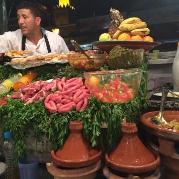 Comidas na Praça Jemaa El Fna em Marrakech, Marrocos 3