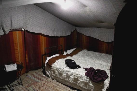 Interior da barra que ficamos no acampamento.