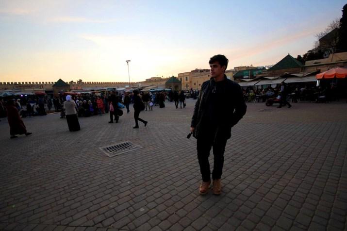 Por do sol na medina de Meknès
