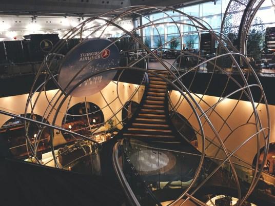 Sala VIP da Turkish Airlines do aeroporto de Istambul
