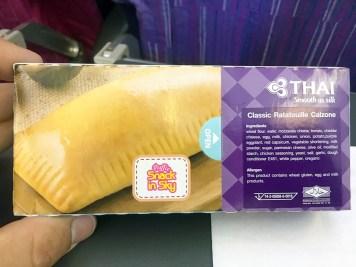 Refeição: Classe econômica Thai Airways 777-200ER