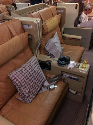 Poltrona: Classe executiva Singapore Airlines A380-800