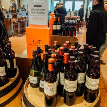Loja da vinícola Concha Y Toro