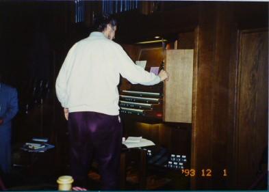 シュテファン大寺院で、オルガンのレクチャーに