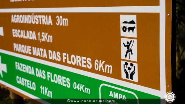 Placa de sinalização para Apeninos.